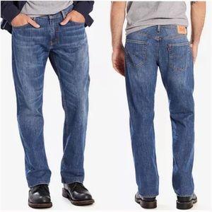 Levi's 559 Mens Blue 100% Cotton Medium Wash Straight Leg Denim Jeans 36X32